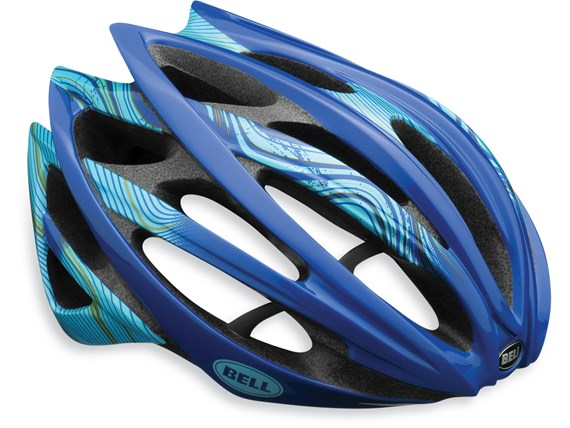 Bell Gage blue / gold swerve Road helmet