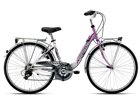 Bottecchia 710 TZ 6v 26x1.3/8 ladies Hybrid City Bike pink white 2012