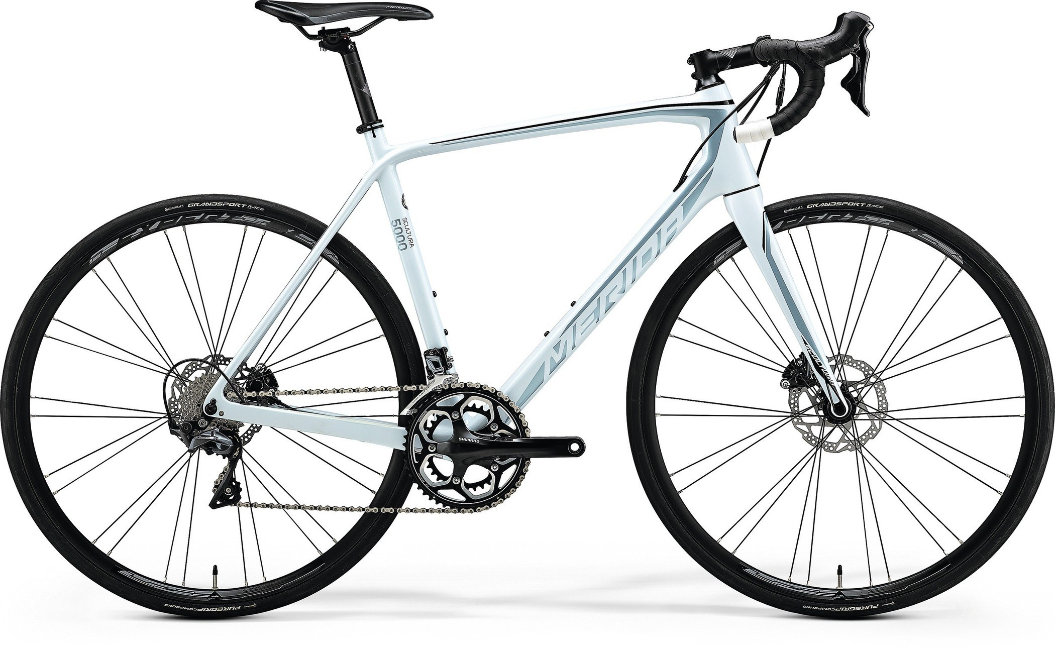 Merida Scultura Disc 5000 White / Silver / Black 2018 Road Bike