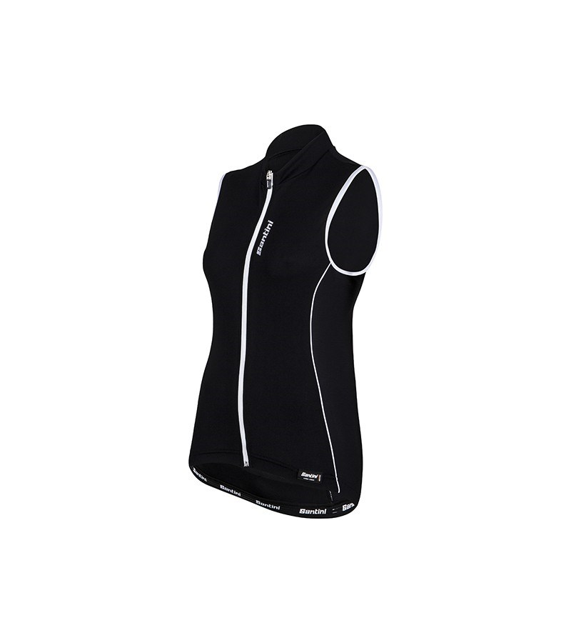 5bc32f852b890 Santini Ora Womens Sleeveless Jersey  Gilet Black - Buy Online ...