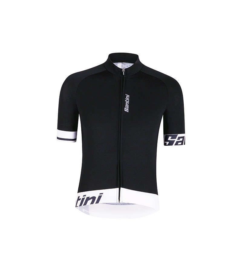 Home Road Cycling Clothing Santini Jerseys Santini Sleek 2 Aero Short  Sleeve Jersey Black  White. 1  2  3 5b4aea38f