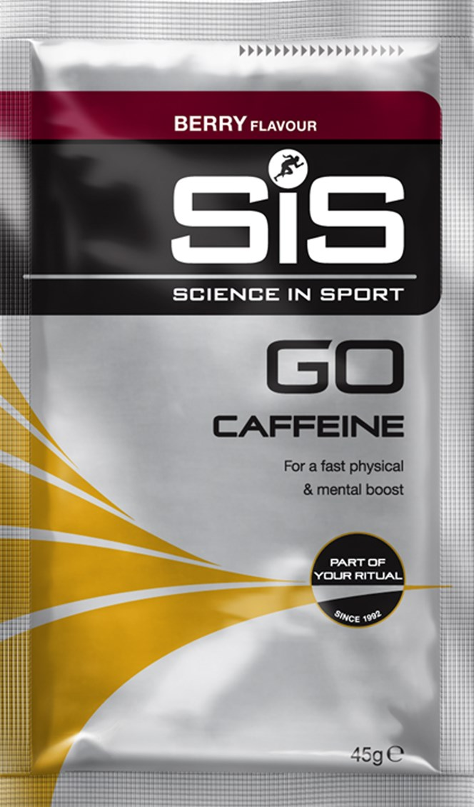 Science In Sport Go Plus Caffeine Energy drink powder berry 45 g sachets - box of 18