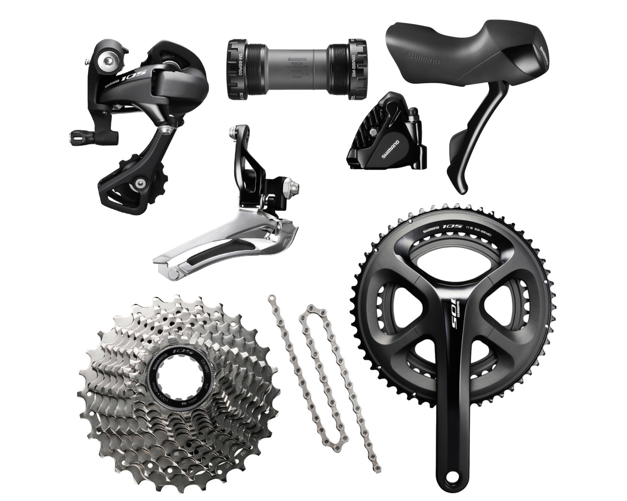 224086539bd Shimano 105 5800 Hydraulic Disc Brake Groupset - FREE FITTING - Buy Online  | Pedal Revolution