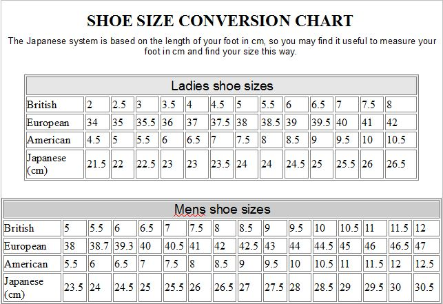 Us Shoe Size Chart By Age