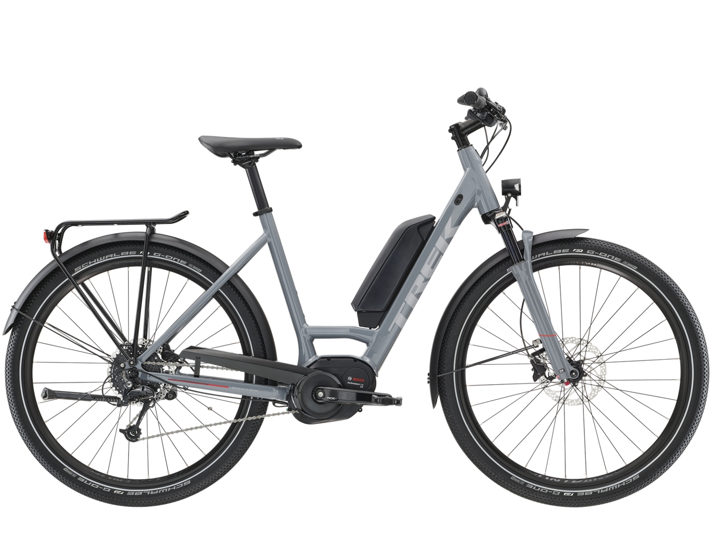 e356d58bf36 Trek UM5+ Lowstep 2019 Womens Hybrid E-bike Grey - Buy Online | Pedal  Revolution