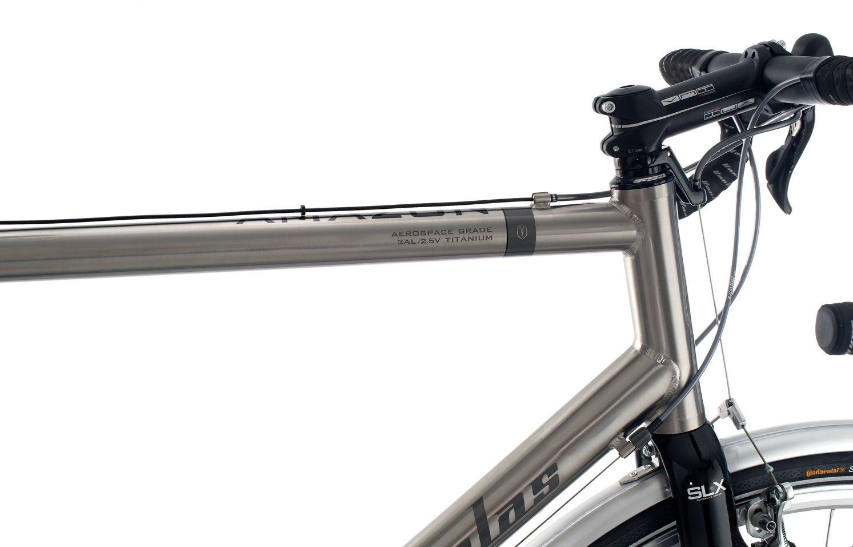Van Nicholas Amazon Ultegra Triple Flat Bar Titanium Touring Bike ...